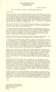 Letter from Hartford Avenue Baptist Church to New York Post