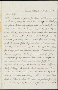 Letter from William Lloyd Garrison, Salem, [Ohio], to Helen Eliza Garrison, Oct. 14, 1858