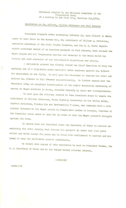 Resolution on Lt. Gilbert, William Patterson and Paul Robeson
