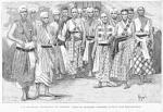 Les amazones guerrières du Dahomey. (D'après une photographie communiquée par M. le colonel Dinnematin-Dorat.)