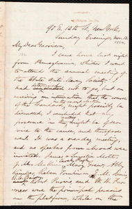 Letter from Oliver Johnson, New York, [N.Y.], to William Lloyd Garrison, Nov[ember] 13. [1864]