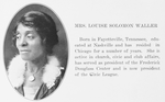 Mrs. Louise Solomon Waller
