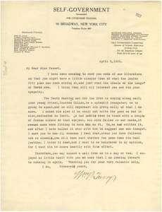 Letter from Wilmot V. Trevoy to Jessie Redmon Fauset