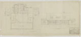 Como Golf Refectory, Department of Parks and Playgrounds, First Floor Plan and Front Elevation
