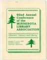 1987 Minnesota Library Association annual conference program, Brainerd, Minnesota