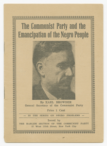 The Communist Party and the Emancipation of the Negro People