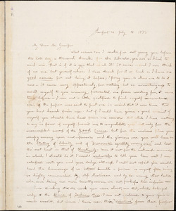 Letter from Camilla Ware, Pomfret, V[ermon]t, to William Lloyd Garrison, 1838 July 11
