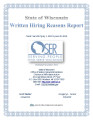 Written hiring reasons report, July 1, 2013 – June 30, 2014