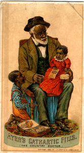 Trade cards for Ayer's cathartic pills, 1883