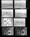 Set of negatives by Clinton Wright including Mrs. Gibbs' baby, children at 1708 Highland, Voice Party, play school at Doolittle, Minnie Wilkins painting, and football practice, 1965