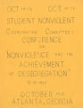 SAVF-Student Nonviolent Coordinating Committee (SNCC) (Social Action vertical file, circa 1930-2002; Archives Main Stacks, Mss 577, Box 47, Folder 11)