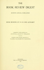Book review digest, 1911 v.7
