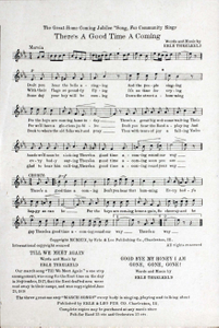 There's a good time a coming : a great one-step march song / words and music by Erle Threlkeld.