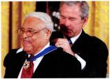 President Bush awards Hooks the Medal of Freedom