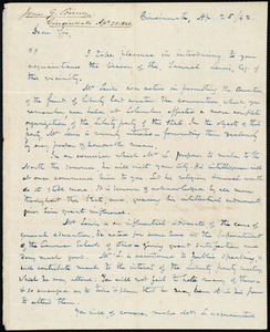 Letter from James Gillespie Birney, Cinicnnati, to Amos Augustus Phelps and Joshua Leavitt, Ap. 25 /42