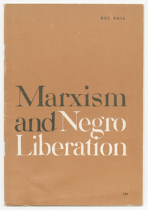 Marxism and Negro Liberation