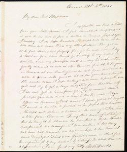 Letter from Mary Merrick Brooks, Concord, [Mass.], to Maria Weston Chapman, Oct. 4th, 1841