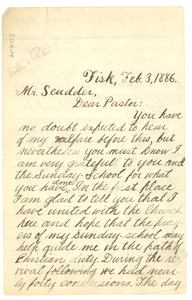 Letter from W. E. B. Du Bois to Rev. Scudder