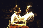 """Actors Kim Yancey & Delroy Lindo in a scene fr. the Playwrights Horizons' production of the play """"The Heliotrope Bouquet By Scott Joplin & Lous Chauvin."""" (New York)"""