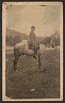 [General Robert Edward Lee in uniform on his horse, Traveller]