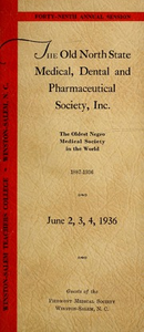 Program of the ... annual session of The Old North State Medical, Dental and Pharmaceutical Society [serial], 49th(1936)