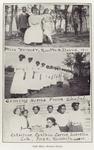 Miss Weimer, Rosetta Coming home from chapel. ; Celestine, Cynthia, Carrie, Lucretia, Lele, Inez, Elizabeth