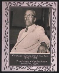 Junaluska Neighborhood Honoree Reverend Ronda David Horton, 2012