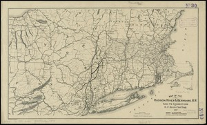 Map of the Hudson River & Berkshire R. R. and its connections
