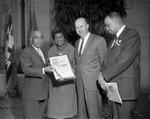 Presentation of National Negro History Week proclamation, Los Angeles, 1963