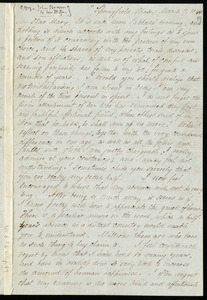 Copies of correspondence to and from John Brown