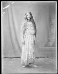 Full length front view Indian girl. St Louis, Indian Exhibit of the World's Fair. 1904