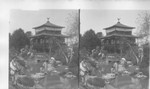 World's Fair. Japan in America pretty Maids in Garden before a Japanese Teahouse