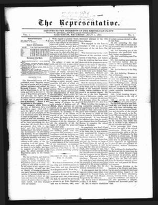 The Representative. (Galveston, Tex.), Vol. 1, No. 7, Ed. 1 Saturday, July 1, 1871 The Representative