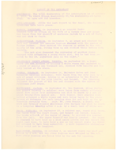 National Association for the Advancement of Colored People Report of the secretary for the October 1919 meeting of the Board.