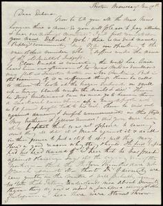 Letter from Maria Weston Chapman, Boston, [Mass.], to Deborah Weston, Wednesday, Jan. 19th, [1842?]