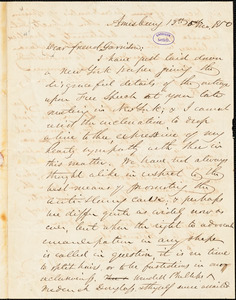 Letter from John Greenleaf Whittier, Amesbury, [Massachusetts], to William Lloyd Garrison, 1850 [May] 13th