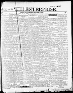 The Enterprise. (Omaha, Neb.), Vol. 8, No. 2, Ed. 1 Friday, January 12, 1900 The Enterprise