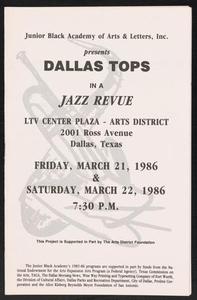 Program: Dallas Tops in a Jazz Revue Dallas Tops - Jazz Revue