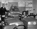 Robot teacher instructs driving students