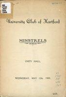 Minstrels Unity Hall, Wednesday, May 12th, 1909