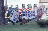 Members of the Clinton Quilting Bee hanging at the Black Belt Folk Roots Festival in Eutaw, Alabama.