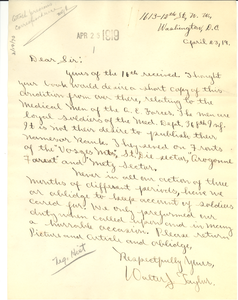 Letter from Walter J. Taylor to W. E. B. Du Bois