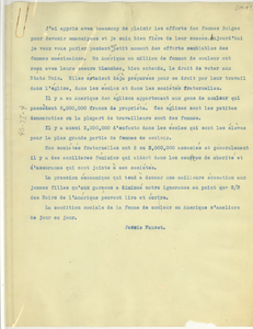 Notes on the suffrage of Belgian and African American women