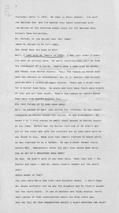 Transcription of oral history interview with Jim Nelson, April 7, 1977 Baytown Oral Histories