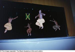 Stunt performers at Ashe Caribbean event Ashe Caribbean Dance