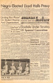 Arkansas Traveler, October 10, 1952; Negro Elected Lloyd Halls Prexy; Arkansas traveler (Fayetteville, Ark.); Traveler
