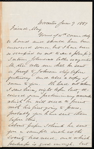 Letter from Joseph Avery Howland, Worcester, [Mass.], to Samuel May, June 9, 1887