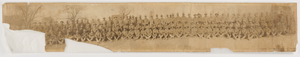 Panoramic photographic print of D Company, 369th regiment at Camp Merritt