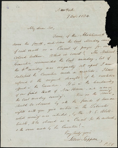 Letter from Lewis Tappan, New York, [New York], to William Lloyd Garrison, 1834 Oct[ober] 7