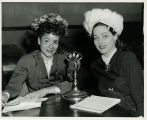 Katherine Dunham at radio broadcast